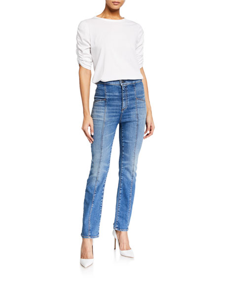Image 3 of 3: Veronica Beard Jeans Carly High-Rise Kick Flare Jeans