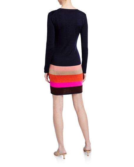 Trina Turk Camp Long-Sleeve Colorblock Dress