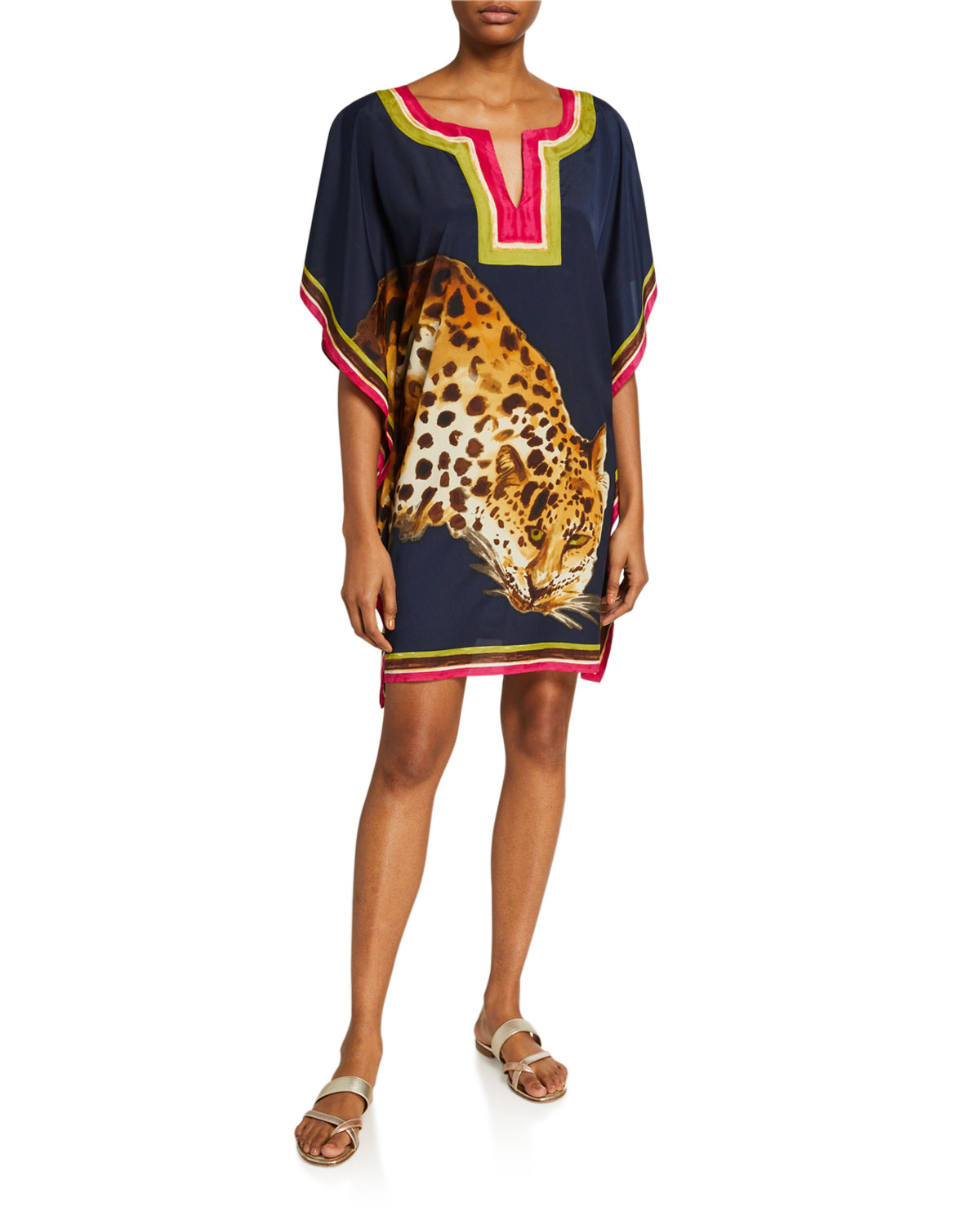 Trina Turk Theodora Cheetah Graphic Shift Dress
