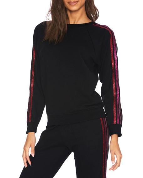 Beach Riot Love Stripe Sweatshirt