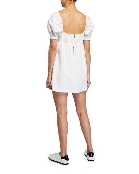 Alice + Olivia Bauery Puff-Sleeve Babydoll Dress