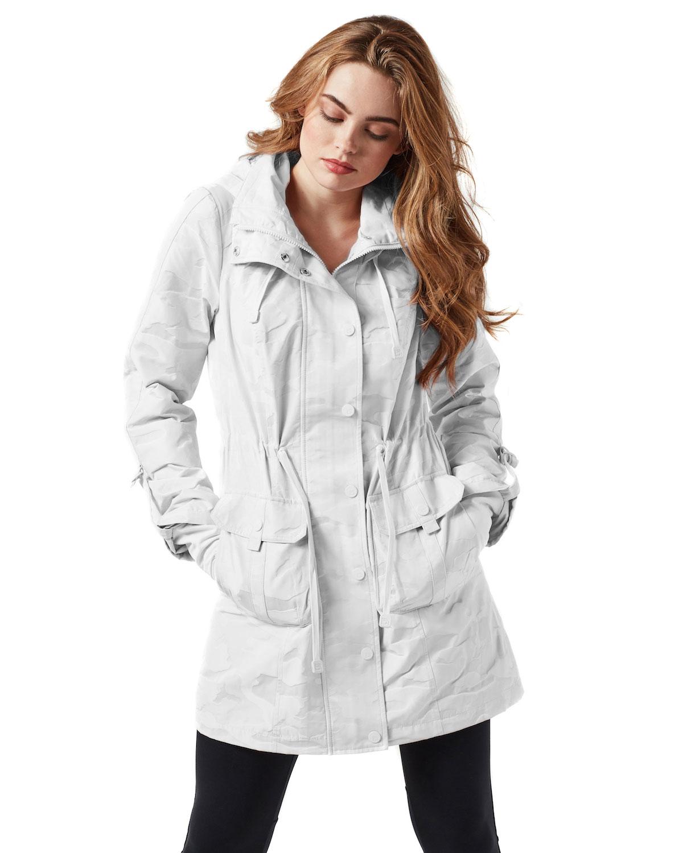 Blanc Noir Camo-Print Anorak Jacket