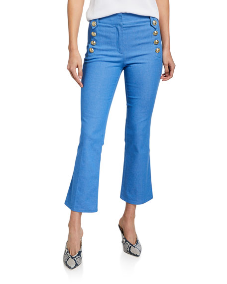 Image 3 of 3: Robertson Cropped Flare Sailor Trousers