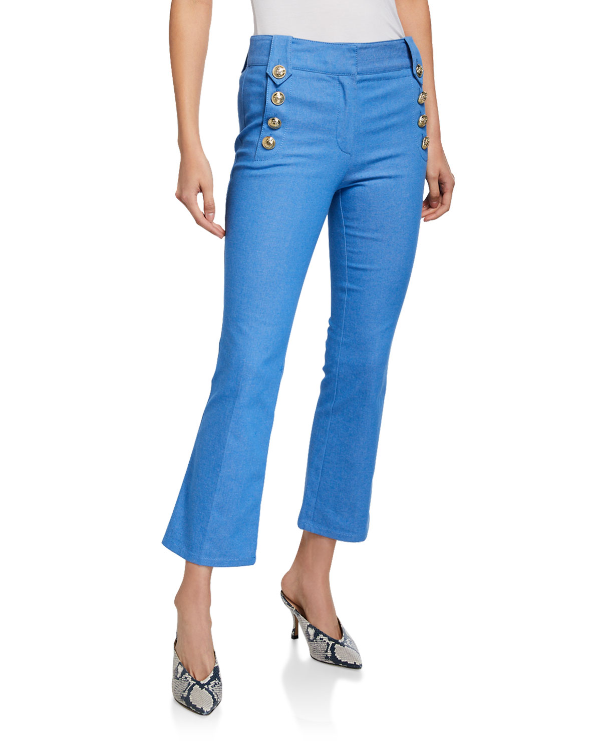 Robertson Cropped Flare Sailor Trousers
