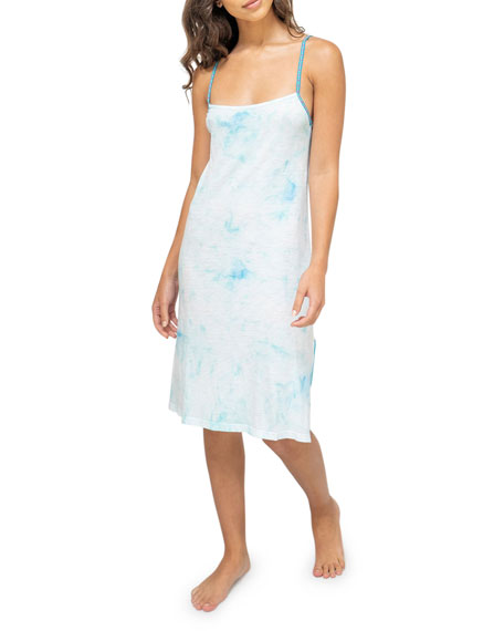 Pitusa Tie-Dye Mini Slip Dress
