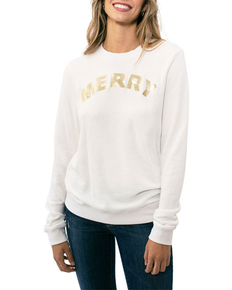 Sol Angeles Merry Holiday Pullover Sweatshirt
