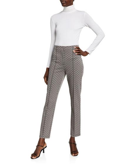 Diane von Furstenberg Dakota Knit Jacquard Slim-Leg Pants