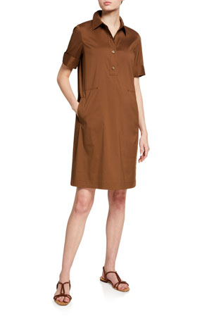 Lafayette 148 New York Conroy Classic Stretch Cotton Dress