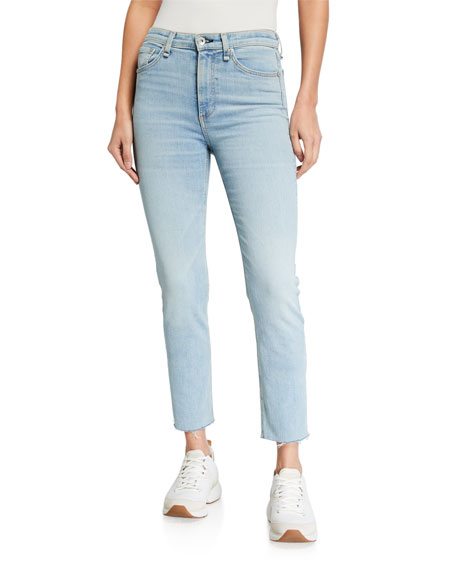 Image 1 of 3: Rag & Bone Nina High-Rise Ankle Cigarette Jeans