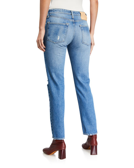 Image 2 of 3: Rag & Bone Rosa Mid-Rise Distressed Boyfriend Jeans
