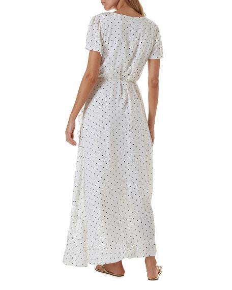 Melissa Odabash Tilly Dot-Print Ruffle Coverup Dress