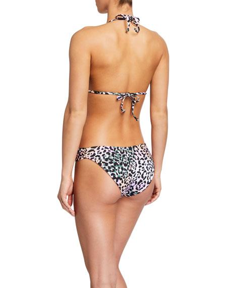 Veronica Beard Cala Animal-Print Triangle Bikini Top
