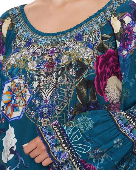Camilla Printed A-Line Frill Dress