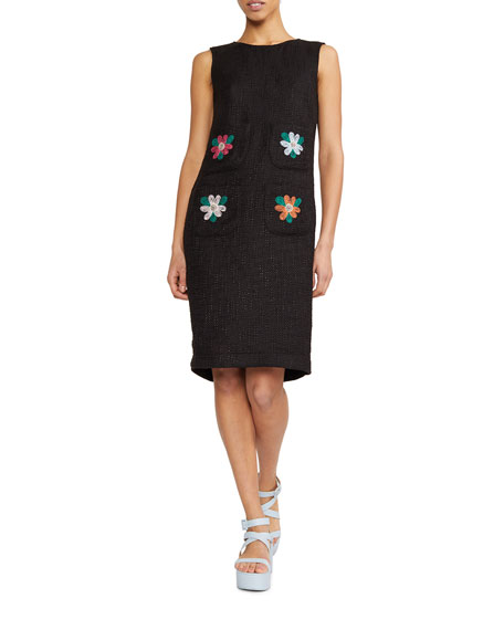 Cynthia Rowley Vivian Floral Embroidered Sleeveless Knit Dress