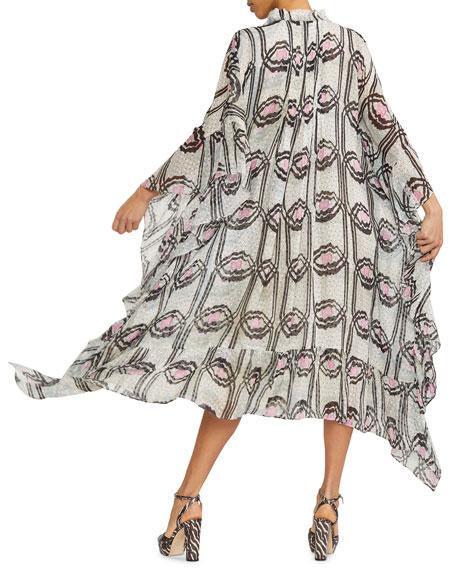 Cynthia Rowley Thasos Printed Silk Maxi Kaftan