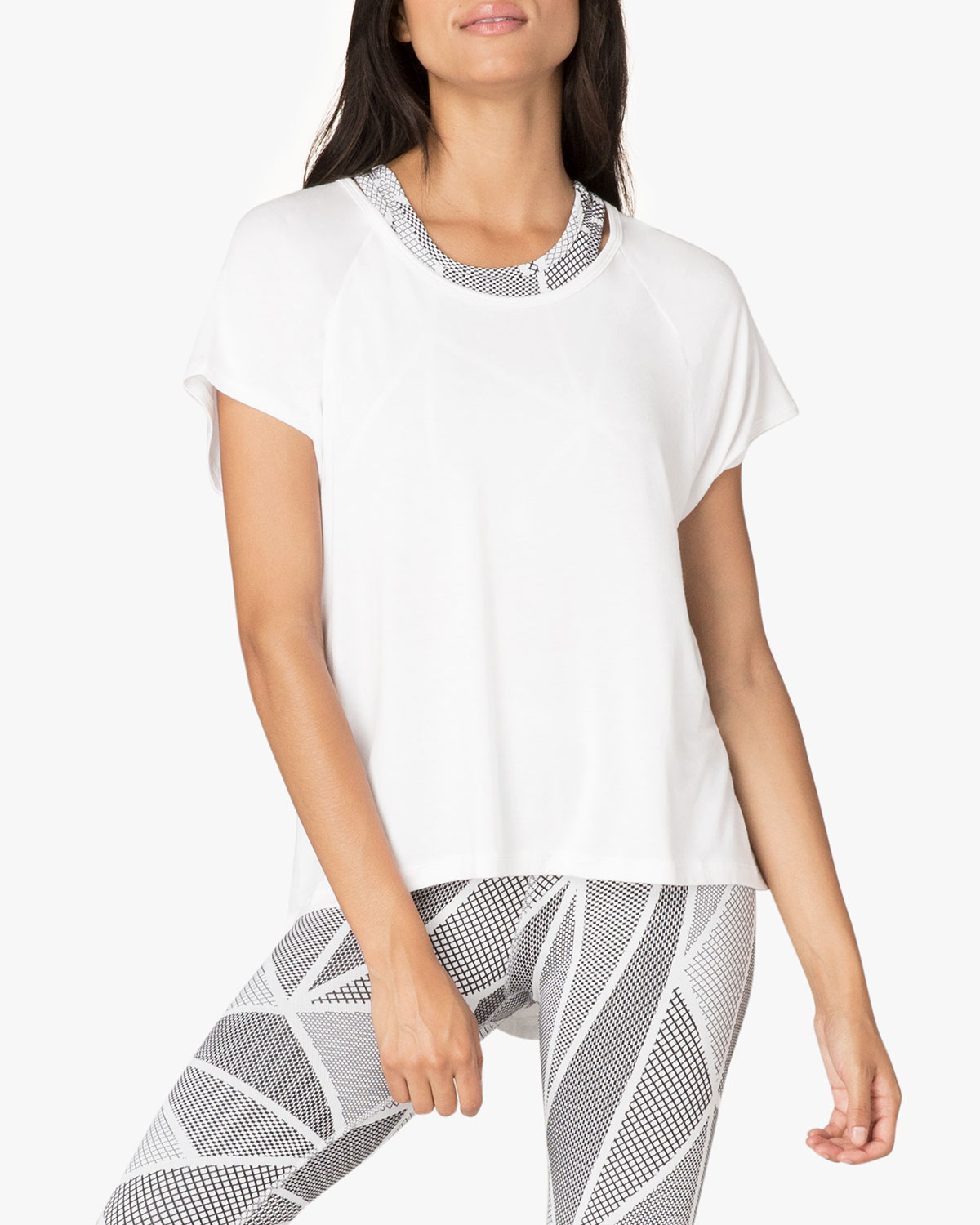 Beyond Yoga Slink Out Loud High-Low Tee