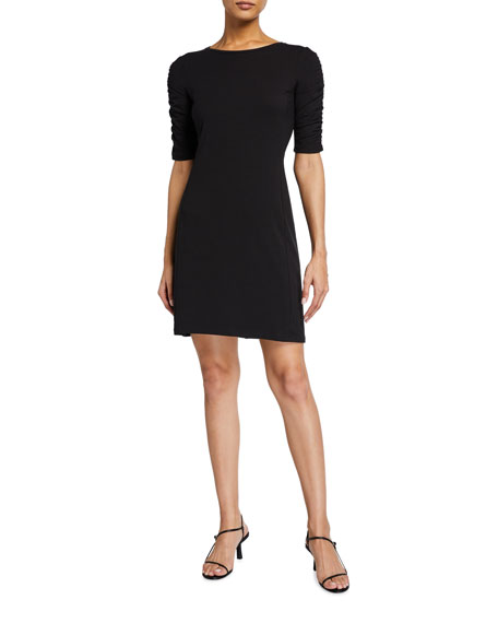 Image 1 of 2: Theory Gathered Sleeve Midi Dress