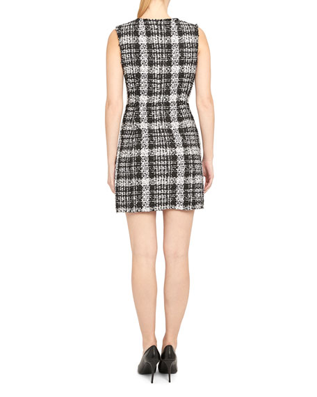 Theory Sculpted U-Neck Sheath Dress
