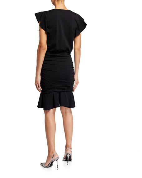 Veronica Beard Lisette V-Neck Dress