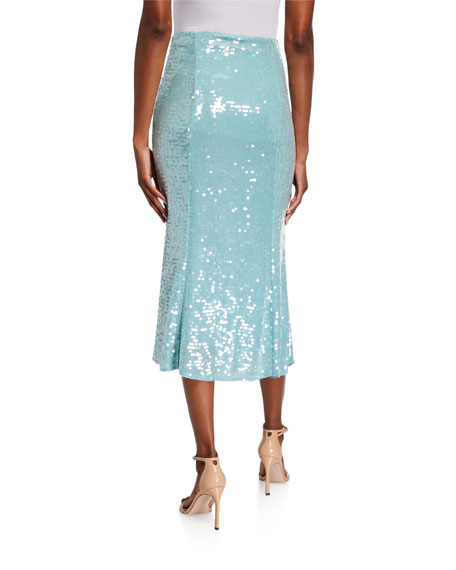 Veronica Beard Abigail Sequined Midi Skirt