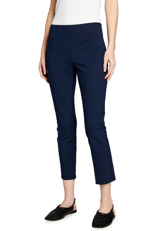 Theory Skinny Stretch Cotton Capri Pants