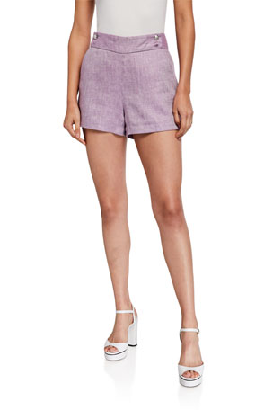 Veronica Beard Kimm Linen Shorts