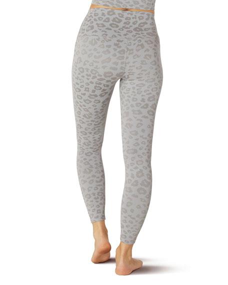Beyond Yoga Leopard-Print High-Waist Midi Leggings