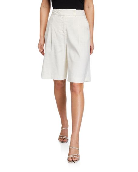 Veronica Beard Saira Linen Shorts
