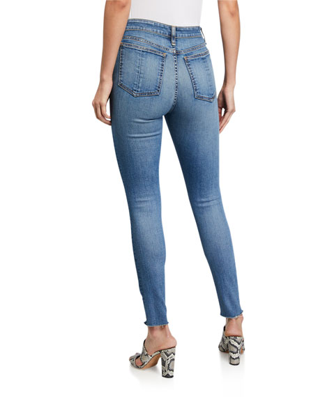 Image 2 of 3: Rag & Bone Nina High-Rise Skinny Jeans w/ Button Fly