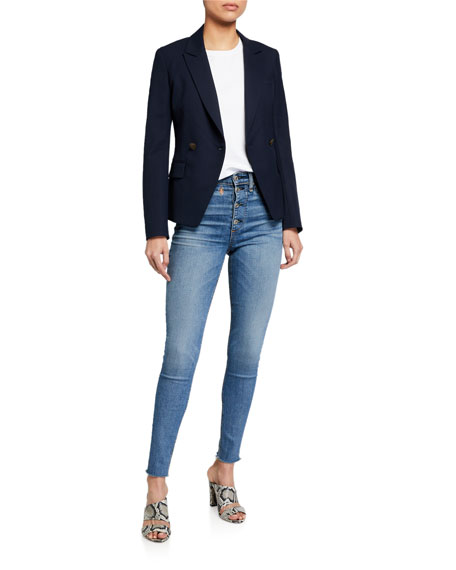 Image 3 of 3: Rag & Bone Nina High-Rise Skinny Jeans w/ Button Fly
