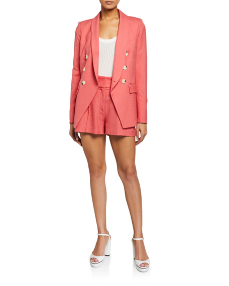 Veronica Beard Pine Button Shorts