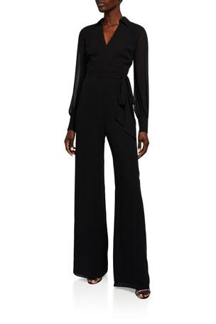 Jay Godfrey Bamby Long-Sleeve Jumpsuit