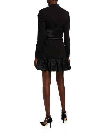 Jay Godfrey Phoebe Long-Sleeve Ruffle Dress