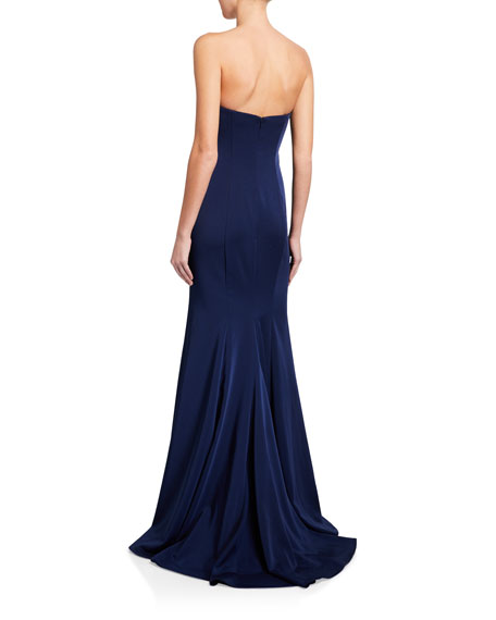 Faviana Strapless Stretch Faille Satin Gown