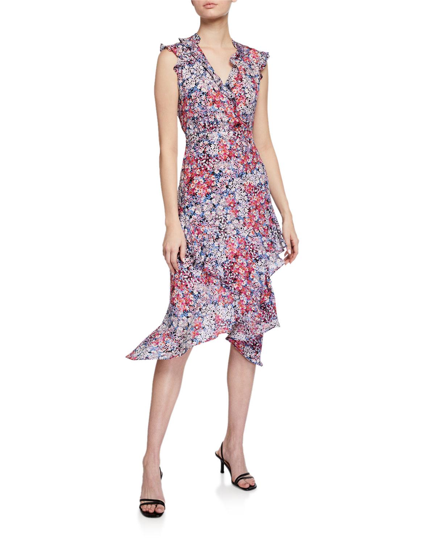 La Petite Maison Atlanta atlanta printed sleeveless ruffle dress