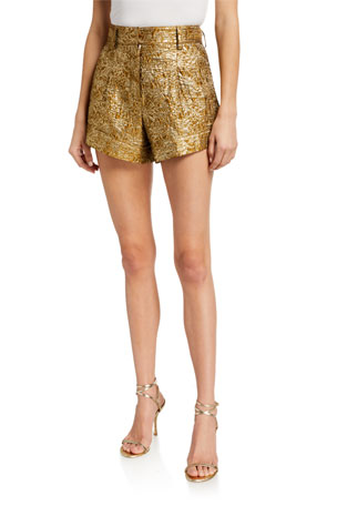 Mari Metallic A-Line Shorts