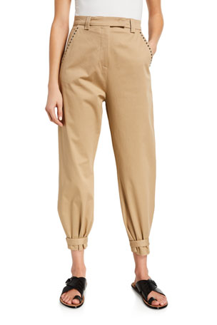 PINKO Nana Studded High-Rise Pants