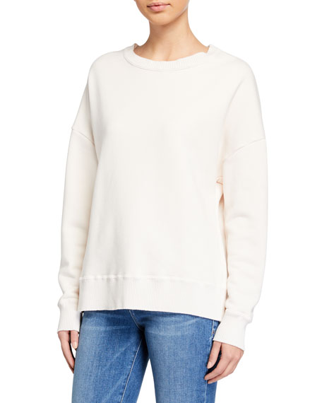 Image 2 of 3: Frank & Eileen Tee Lab Ribbed Knit Cotton Fleece Sweatshirt