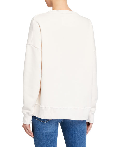 Image 3 of 3: Frank & Eileen Tee Lab Ribbed Knit Cotton Fleece Sweatshirt