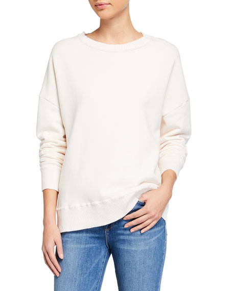 Image 1 of 3: Frank & Eileen Tee Lab Ribbed Knit Cotton Fleece Sweatshirt
