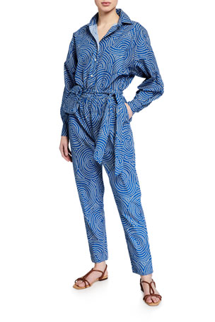 Rhode June Printed Jumpsuit with Belt