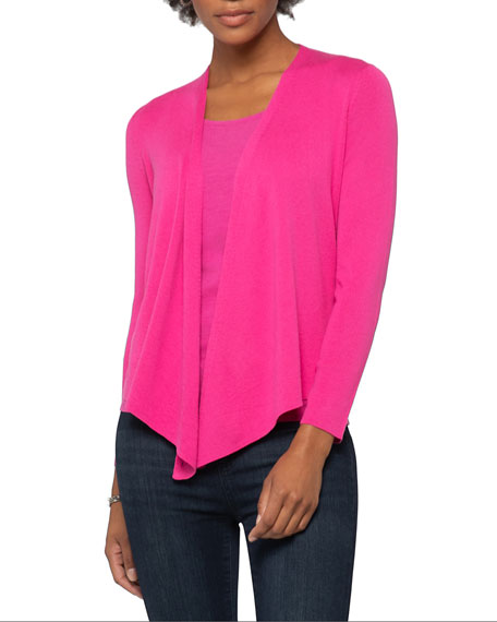 NIC+ZOE Plus Size 4-Way Cotton-Blend Cardigan