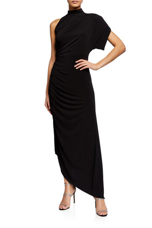 Retrofete Monica One-Shoulder Asymmetric Cocktail Dress