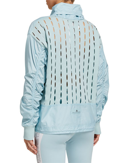 adidas by Stella McCartney Tech Pullover Jacket with Cutouts