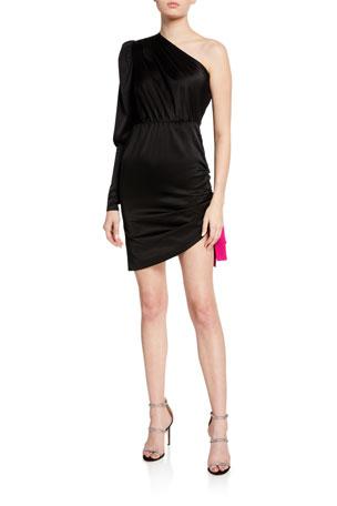 Retrofete Neva One-Shoulder Cocktail Dress