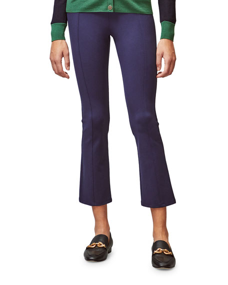 Tory Sport Ponte Cropped Flare Pants