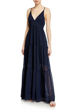 Le Superbe Starry Night Metallic Long Dress