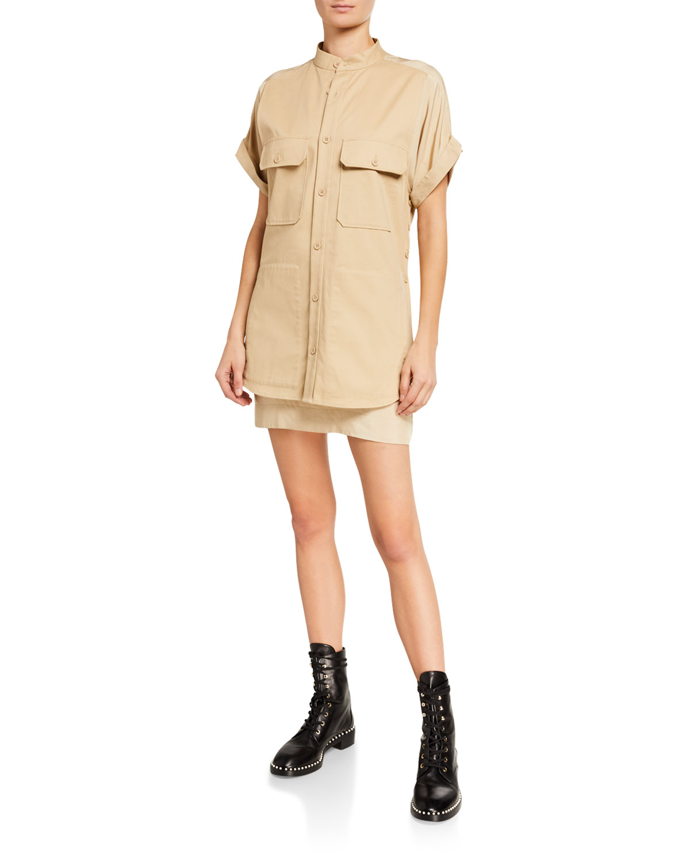 Equipment Acaena Short-Sleeve Mini Utility Dress