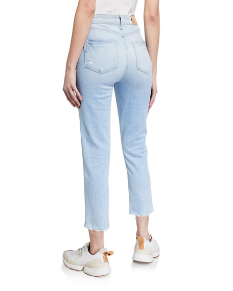 PAIGE Hoxton Slim Cropped Jeans with Stepped-On Hem