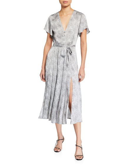 PAIGE Alayna Printed Button-Front Dress